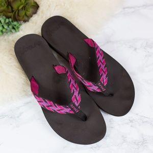 Reef Brown/Pink Flip Flops